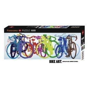 Puzzle Panorámico Bicicletas de Colores