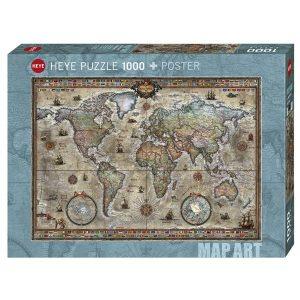 Puzzle Mapa Retro + Póster - 1000 piezas