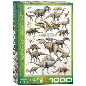 Puzzle Dinosaurios del Período Cretácico