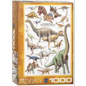 Puzzle Dinosaurios del Período Jurásico