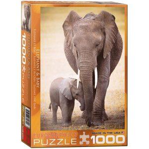 Puzzle Elefante y su cría