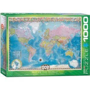 Puzzle Mapa del Mundo con Banderas