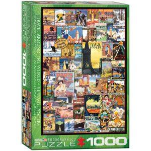 Puzzle Póster Vintage el Mundo