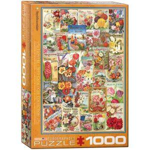 Puzzle Carteles Vintage Semillas de Flores