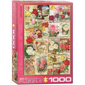 Puzzle Carteles Vintage Rosas