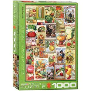 Puzzle Carteles vintage de verduras