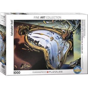 Comprar Puzzle Eurographics Reloj blando primera explosión Dali 1000 piezas Smart Cut. Puzzles Magin tienda de puzzles online con envíos 24-48 horas.