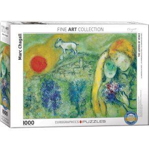 Puzzle Los enamorados de Vence de Marc Chagall