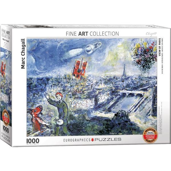 Puzzle Vista de parís de Marc Chagall