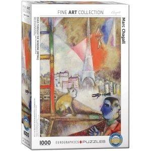 Puzzle París por la ventana (detalle) de Marc Chagall