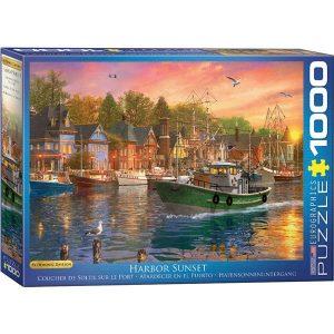 Puzzle Atardecer en el Puerto de Dominic Davison