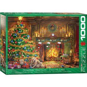 Puzzle Arbol de Navidad y Labradores