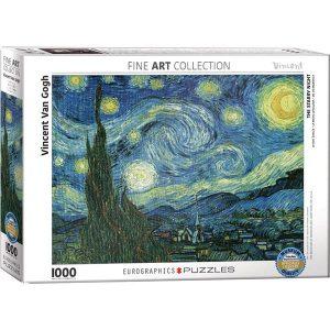 Comprar Puzzle Eurographics La noche estrellada de van Gogh 1000 piezas corte Smart Cut. Puzzles Magin tienda de puzzles online con envíos 24-48 horas.