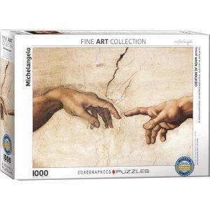 Puzzle La creación de Adán (detalle) de Michelangelo