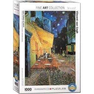 Comprar Puzzle Eurographics Terraza de café por la noche de van Gogh 1000 piezas corte Smart Cut. Puzzles Magin tienda de puzzles online envíos 24-48 horas.
