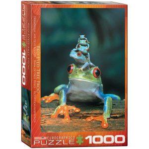Puzzle La rana de ojos rojos