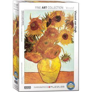 Puzzle Eurographics Girasoles de van Gogh 1000 piezas corte irregular Smart Cut. Puzzles Magin tienda de puzzles online con envíos 24-48 horas.