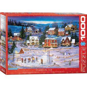 Puzzle Estrellas en el Hielo Hockey & Navidad