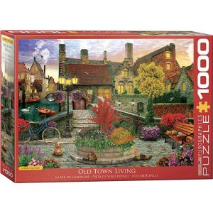 Puzzle Eurographics Viejo pueblo de Dominic Davison de 1000 piezasDominic Davison
