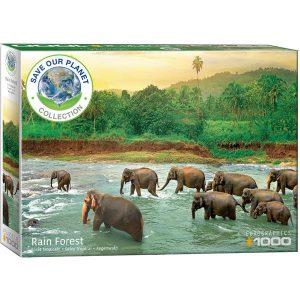 Puzzle Eurographics Selva tropical Save the planet de 1000 piezas