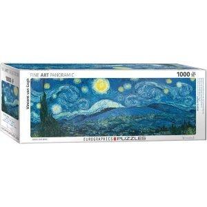 Comprar Puzzle Eurographics panorámico La Noche Estrellada van Gogh 1000 piezas. Puzzles Magin es una tienda de puzzles online con envíos en 24 - 48 horas.