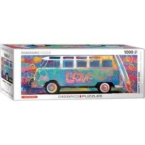 Puzzle Panorámico Volkswagen Furgoneta Love