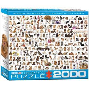 Puzzle El mundo de los perros - 2000 piezas