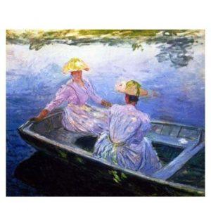 Puzzle Jovenes damas en barca de Monet 1000 piezas de la marca italiana Puzzle Ricordi Arte. El arte está a tu alcance con Puzles Ricordi.