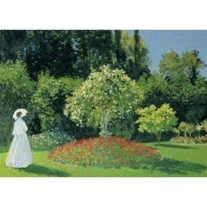 Puzzle La Mujer en el Jardín de Monet 1500 piezas de la marca italiana Puzzle Ricordi Arte. El arte está a tu alcance con Puzles Ricordi.