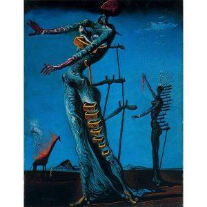 Comprar Puzzle Ricordi La Jirafa ardiente de Salvador Dali 1500 piezas