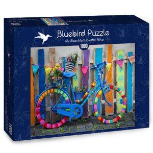 Puzzle Bluebird Bicicleta de colores de 1000 piezas