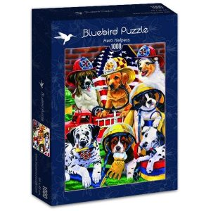 Puzzle Bluebird Cachorros de perro Bomberos de 1000 piezas