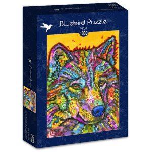 Puzzle Bluebird Lobo de colores de 1000 piezas