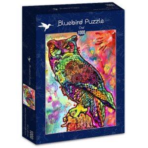 Puzzle Bluebird Búho de colores de 1000 piezas