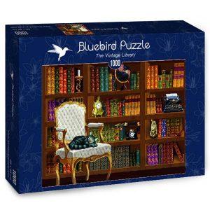 Puzzle Bluebird Biblioteca vintage de 1000 piezas