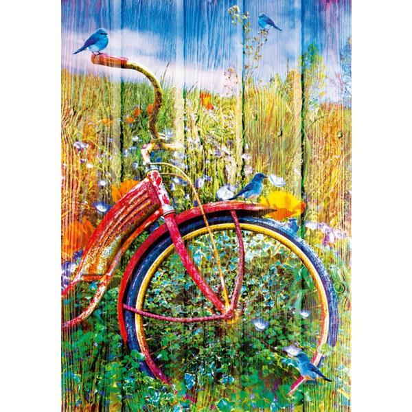 Puzzle Pájaros azules en una bicicleta - Puzzles Bluebird Puzzle