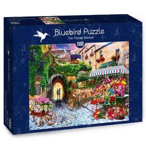 Puzzle El mercado de las flores - Puzzles Bluebird Puzzle