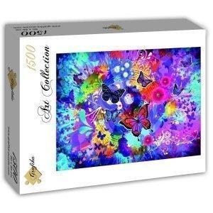 Puzzle Colorido de las mariposas y las flores - Puzzles Grafika
