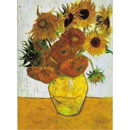 Puzzle Riordi Girasoles de van Gogh de 1000 piezas. Puzzles Magin es una tienda de puzzles online con envíos en 24 - 48 horas.
