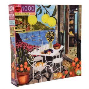Puzzle eeBoo Gatos en Positano de 1000 piezas