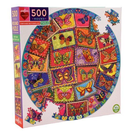 Comprar Puzzle eeBoo Mariposas 500 piezas redondo