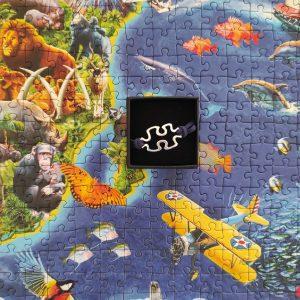 Pulsera unisex puzzle con cierre azul marino
