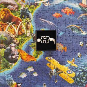 Pulsera unisex puzzle con cierre blanca