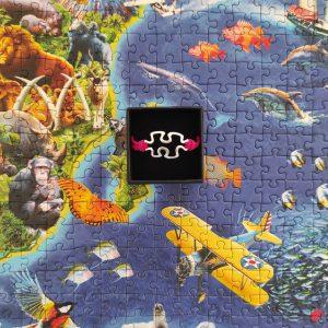 Pulsera unisex puzzle de cuerda roja