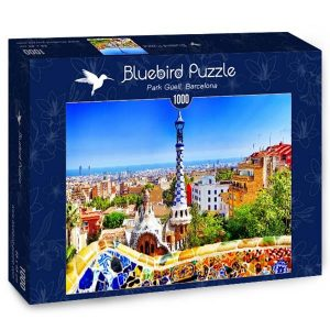 puzzle bluebird barcelona park guell antoni gaudi