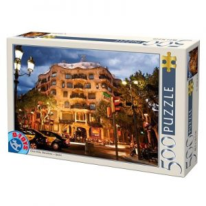 Puzzle de Casa Mila de Antoni Gaudi en Barcelona. Puzzle de Modernismo.