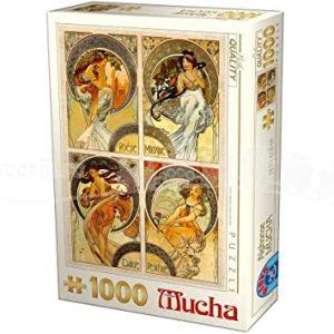 Comprar Puzzle Dtoys de 1000 piezas de Alfons Mucha de Artes.