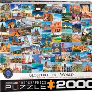 8220-5480 Puzzle Eurographics Globertrotter el Mundo de 2000 piezas