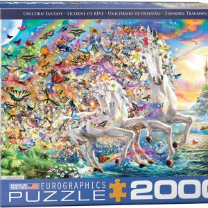 8220-5551 Puzzle Eurographics Unicornios de 2000 piezas