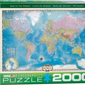 E8220-0557 eurographics mapa mundo puzzle 2000 piezas